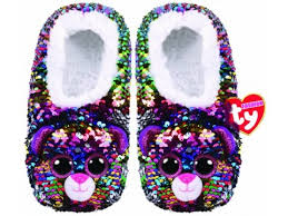 Beanie Boo Slippers Size Chart Ty Fashion Sequin Slipper Socks Assorted