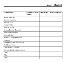 Monthly And Yearly Budget Template Free 9 Yearly Budget Samples In Google Docs Ms Excel Ms