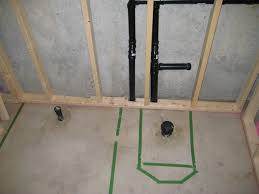 basement bathroom plumbing. Enthralling Basement Bathroom Rough In On Top Plumbing Toilet T