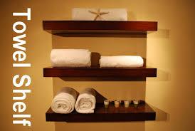 bathroom wood shelf floating wall shelves set of 3 walnut color wall towel shelf custom wood design s