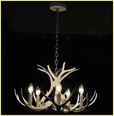 modern deer antler chandelier