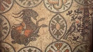 Risultati immagini per L'asino rosso nel pavimento musivo dell'aula nord di aquileia