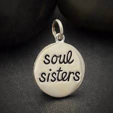 sterling silver soul sisters charm 925