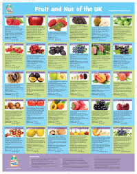 Foods Rich In Vitamins And Minerals Chart Fruit And Nut Information Wall Chart In 2019 Vitamins For