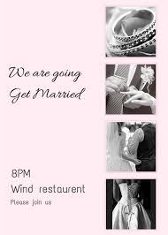 Basic Invitation Template Simple Photography Wedding Invitation Free Template Wedding