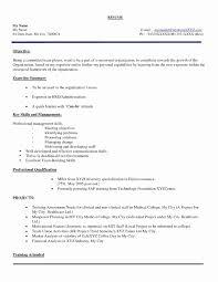 Resume Samples For Freshers Lovely Hr Resume Format For Freshers