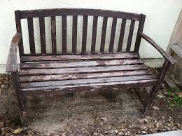 protecting outdoor furniture. protecting outdoor furniture wooden bench in need of painting o h