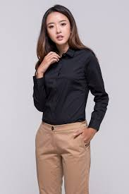 Shirts With Pants Ladies Long Sleeve Shirt Black Corporate And Style