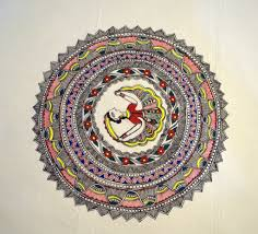 Mithila Painting Bed Sheet Design Bed Set 1 In 2019 Madhubani Madhubani Painting