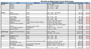 cost spreadsheet for building a house home construction budget spreadsheet commercial cost estimate new