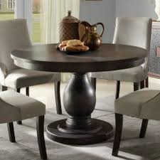 Image Modern Homelegance Dandelion Round Pedestal Dining Table In Distressed Taupe Walmartcom Walmart Homelegance Dandelion Round Pedestal Dining Table In Distressed