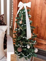 Outdoor Christmas Decorating Outdoor Holiday Decorating Idea Mini Christmas Tree Hgtv