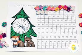 Counting To 100 With A Printable Forest Hundreds Chart