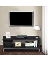 entertainment centers for flat screen tvs. Topeakmart Black Wood Open Design Media Console TV Stand Home Entertainment Center With Steel Legs For Centers Flat Screen Tvs