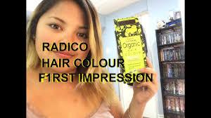 Radico Hair Color Chart F1rst Impression Radico Colour Me Organic Hairdye