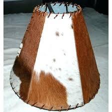 leather lamp shade cow lamp shade cowhide lamp shades western rustic shade leather 7 lamp shade leather lamp shade