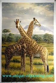 giraffe paintings on canvas home all s animal oil painting giraffe deer bull oil painting