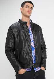 mcqueen racer faux leather jacket