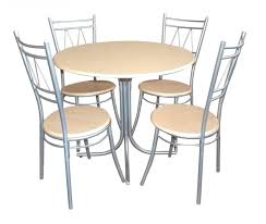 4 pieces rounded glass top dining table