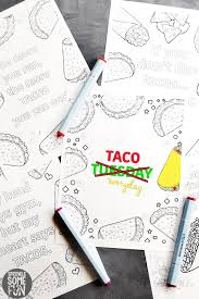 Included into beautiful and various patterns to the letters of our quotes also can be coloured ! 5 Free Funny Taco Quotes Coloring Pages Sprinkle Some Fun