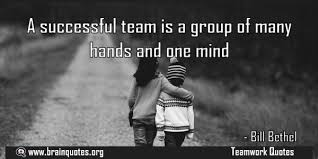 Team Success Quotes Delectable A Successful Team Is A Group Of Many Hands Quote