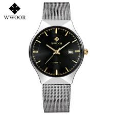 online get cheap ultra thin watches for men aliexpress com wwoor men watches full stainless steel 9mm ultra thin watch men fashion dress quartz watch luxury