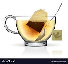 tea bag in cup. Simple Bag Tea Bag In The Cup Vector Image Throughout Bag In Cup VectorStock