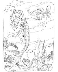 Small Picture 38 best Mermaid coloring pages images on Pinterest Mermaid