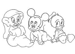 Disney Baby Coloring Pages For Kids Coloringstar