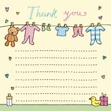 Baby Gift Thank You Note Thank You Notes For Kids Thank You Cards For Children Kids Thank