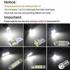 7x White Led Map Dome Light Interior Bulb Package Kit For 2002 2006 Acura Rsx