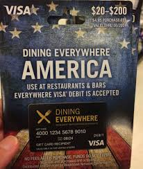 you can use the dining everywhere prepaid visa card at restaurants and bars and to