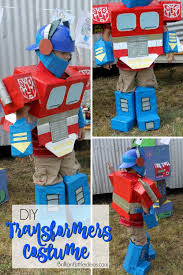 easy diy kid costume transformers costumes are awesome but being optimus prime is a