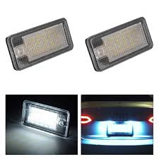 Audi A3 Led License Plate Lights Details About 2x Error Free Smd Led License Plate Light Lamp For Audi A3 A4 B6 B7 A6 Q7 Ma1299