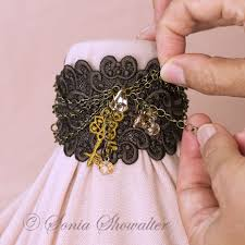 Machine Embroidery Jewelry Designs The Fairy Tale Bracelet Embroidery Bracelets Computerized