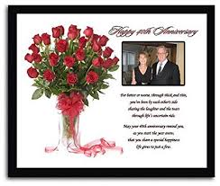 40th wedding anniversary gift for anniversary couple 40th anniversary poem in 8x10 inch frame