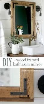 wood framed bathroom mirrors bathroom