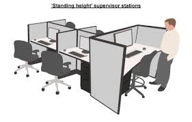 office desk layouts. Desk-layout-standing-height-supervisor Office Desk Layouts O