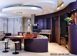 gallery drop ceiling decorating ideas. Decorations:Terraced Gypsum False Ceiling Design For Modern Kitchen With Unique Chrome Hanging Lamp And Gallery Drop Decorating Ideas A