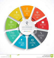 Infographic Circle Process Chart Vector Diagram Options Can