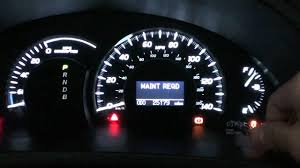 2007 Toyota Maintenance Light Reset How To Clear Maintenance Light On Toyota Camry Pogot