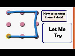 Before you read the solution, can you do it? Connect 9 Dots Without Lifting The Pen Youtube