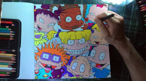 color with me episode 22 the splat coloring the 90s nickelodeon time lapse prismacolor