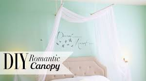 diy romantic bedroom canopy room decor ann le youtube