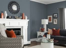 small living room decoration with dark best gray paint and white mantel fireplace ideas and black