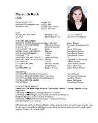 Actress Resume Best Resume Templates O Copy Com