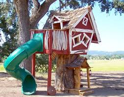 kids tree houses with slides. Tommy\u0027s Turbo Terrace Treehouse Kids Tree Houses With Slides