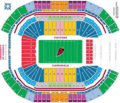 Cardinals Stadium Map Az Cardinals Stadium Map Arizona Usa