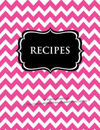 recipe book cover template downloads free binder label templates download google search diy labels