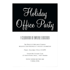 Formal Dinner Invitation Office Holiday Party Paper